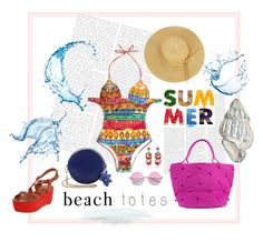 """""""Summer Beach Tote"""" by jennross76 on Polyvore featuring Sensi Studio, Pour La Victoire, Ranjana Khan and beachtotes"""