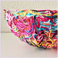 maRRose - CCC, how to make your own yarn ends bowl