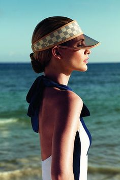 making a visor look sexy...Poppy Delevingne for Louis Vuitton