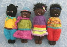 Duduza dollies July2012 #knit #plush #colorful