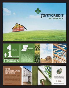Farm Credit service of Mid-America - a country feel with a modern look!