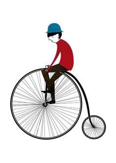 The cyclist print Blanca Gomez