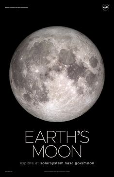 A selection of awe-inspiring NASA Earth's Moon posters, printed on premium satin paper. Solar System Exploration, Solar System Poster, Solar System Planets, Space Exploration, Nasa Planets, Planets And Moons, Space Planets, Space And Astronomy, Nasa Space Pictures