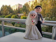 PARANOYAK SATIRLAR: Bride and Groom Free Pattern / Tesettürlü Gelin ve Damat Ücretsiz Anlatım