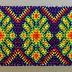 Hand made Huichol bead art including Huichol bracelets and necklaces Huichol Art, Cigar Box Art, Beaded Necklace, Beaded Bracelets, Visionary Art, Bead Art, Bead Weaving, Beaded Embroidery, Beading Patterns