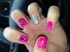 New gel nails, hearts xoxox nail design. Nails by Lena