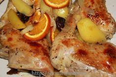 Куриные окорочка под апельсинами | Кулинарные Рецепты