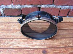 Zwarte Scuba masker Retro masker Vintage zwemmen duikbril