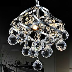 9W LED 26cm Crystal Pendant Light Chandelier Lamp For Living-Room Dining Room – USD $ 99.99