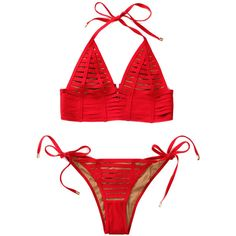 Beach Bunny Hard Summer Long Bralette Bikini Top Red (395 BRL) ❤ liked on Polyvore featuring swimwear, bikinis, bikini tops, bikini, bikini swimwear, long tankini tops, long line bikini, long line bikini top and summer bikini