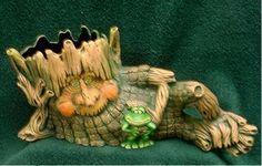 Ents and Tree Spirits :: Elmer - People Pots - Clay Pots - Ceramic Pots - Flower Pots