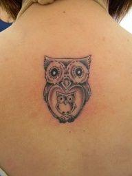 Mommy & Baby owl tattoo