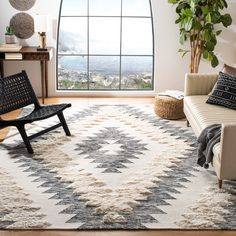 Shop Safavieh Hand-knotted Kenya Izabelle Southwestern Tribal Wool Rug - On Sale - Overstock - 22708704 - x - Grey/Ivory Area Rug Sizes, Blue Area Rugs, Wool Area Rugs, Wool Rugs, Rug Size Guide, Boho Living Room, Living Room Area Rugs, Dining Rooms, Indoor Rugs