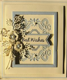 Hello my crafty friends! Today's card offering is my absolute favourite sort of card. I just love a framed card with a floral accent, ...