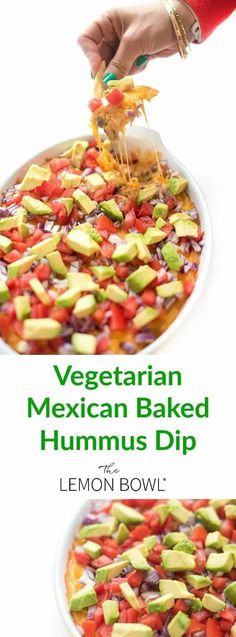 This quick and easy vegetarian appetizer recipe is made with two types of beans,. This quick and easy vegetarian appetizer recipe is made with two types of beans, spicy hummus and p Healthy Afternoon Snacks, Healthy Meals For Two, Good Healthy Recipes, Gourmet Recipes, Mexican Food Recipes, Easy Recipes, Healthy Dips, Dip Recipes, Shrimp Recipes
