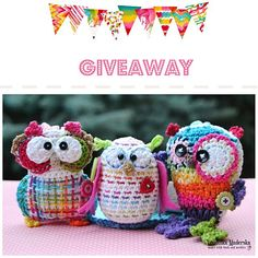 Owls' giveaway (Magic with hook and needles)