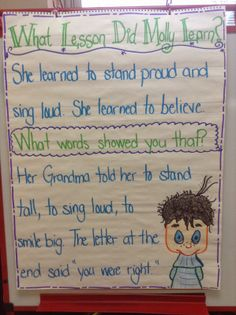 Use Molly Lou to teach Common Core Rl.1.2 - finding central message or lesson learned. Mr. First Grade