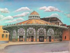 Asbury Park Carousel House by Melinda Saminski The Sound Of Waves, Abandoned Amusement Parks, Asbury Park, Beach Images, Urban Architecture, Park Homes, Old Buildings, House Painting, Vintage Postcards