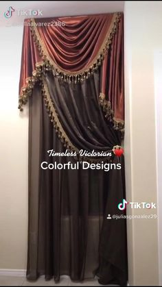 Window Curtain Designs, Window Curtains, Curtains Living, Kitchen Curtains, Luxury Curtains, Drapery, Window Treatments, Home Crafts, Home Accessories