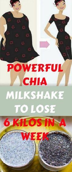 POWERFUL CHIA MILKSHAKE TO LOSE 6 KILOS IN 1 WEEK - The Health Promotion