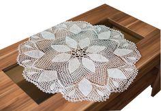 SALE 30  Gray flax linen crochet table placemat от RamuneCrochet, $22.40