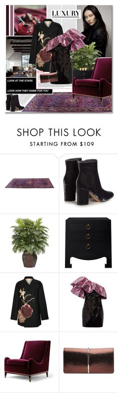 """""""Luxury"""" by aanyaa ❤ liked on Polyvore featuring Gianvito Rossi, Oris, Nearly Natural, Bungalow 5, Valentino, Yves Saint Laurent, Nina Ricci and Illume"""