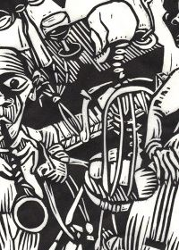 10 Linocuts - The Dance of Death by Kreg Yingst