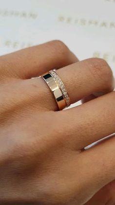 Engagement Rings Couple, Diamond Engagement Rings, Couple Rings Gold, Gold Rings, Gold Band Ring, Diamond Wedding Bands, Male Wedding Bands, Thick Wedding Bands, Lesbian Wedding Rings