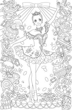 Beautiful Dress , clothes of the world 24 clothes -Japanese coloring book for anti stress Cute Coloring Pages, Christmas Coloring Pages, Coloring Sheets, Coloring Books, Free Adult Coloring, Coloring For Kids, Princess Coloring, Japanese Embroidery, Colorful Drawings