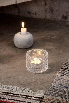 Iittala, Kastehelmi. Via Kotipalapeli. Candles, Candle Holders, Tea Light Candle, Fireplace Accessories, Decor Design, Cozy House, Candlelight, Glass Design, Nordic Design