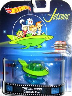 THE JETSONS Capsule Car Hot Wheels 2014 Retro Entertainment Hanna Barbera #HotWheels #Ford