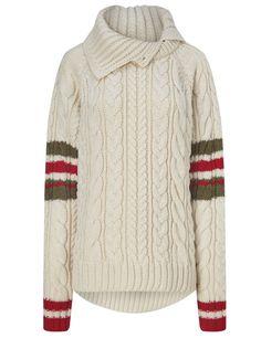 Cream Wool Cable Knit Jumper | Preen by Thornton Bregazzi | Avenue32