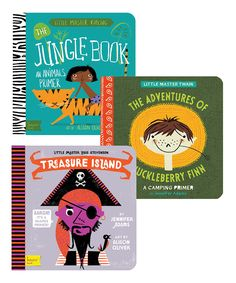 This Treasure Island, Huck Finn & Jungle Book Board Book Set by BabyLit is perfect! #zulilyfinds