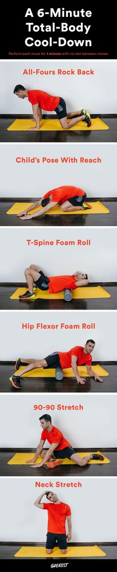 The Only 6 Moves You Need to Cool Down After Your Workout - Perfect İdeas For Doing Exercise Wellness Fitness, Fitness Tips, Fitness Motivation, Exercise Motivation, Do Exercise, Excercise, Cool Down Exercises, Tennis Workout, Post Workout