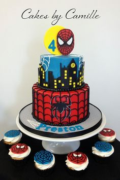 Spiderman birthday cake, Cakes by Camille