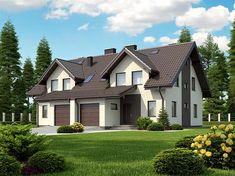 Projekt bliźniaka Trivento II Termo o pow. 121,79 m2 z garażem 1-st., z dachem dwuspadowym, z tarasem, z wykuszem, sprawdź!