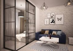 The Best Small Studio Apartment Design Ideas And Brilliant Tips Of Decorating - Modern Small Studio Apartment Design, Condo Interior Design, Studio Apartment Layout, Small Studio Apartments, Small Apartment Living, Condo Design, Studio Apartment Decorating, Small Space Living, Small Spaces