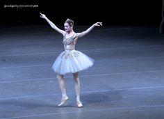 Uyiana Lopatkina in George Balanchine's Diamonds.