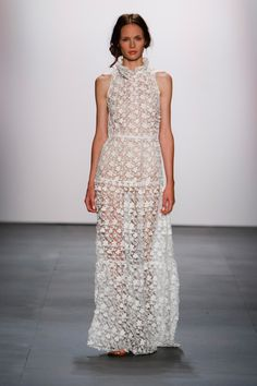 Trend: White, Sheer, Dainty Details // Erin Fetherston Spring 2016 Ready-to-Wear Fashion Show