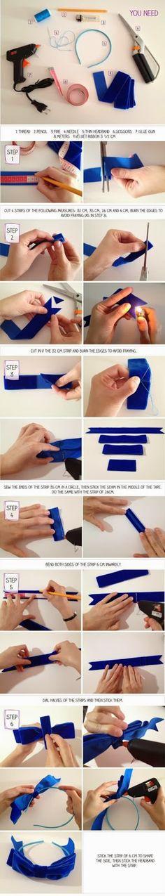 How To Make Headband Bow