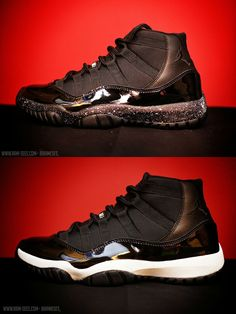 22750947378e Air Jordan 11 Oreo   Double Stuffed Oreo Custom Here are the other two that  I created along side the Cement Custom.