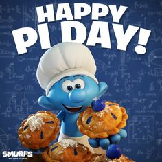 It's Baker Smurf's favorite holiday! The Blue Planet, Smurfette, Blue Magic, Practical Jokes, Old Cartoons, Comic Character, Favorite Holiday, Happy Day, Smurfs