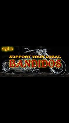 SYLB Biker Clubs, Motorcycle Clubs, Bandidos Motorcycle Club, Harley Davidson, Red Gold, Bikers, Chopper, Motorcycles, Wings