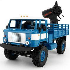 1:16 मिनी ऑफ रोड आरसी सैन्य ट्रक GAZ -66v के लिए चार-पहिया ड्राइव / धातु निलंबन बीम / उज्ज्वल एलईडी लड़कों के जन्मदिन उपहार के लिए