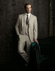 Men's Tan Tuxedo vow renewal