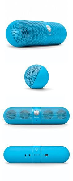 Beats Pill Neon Blue by Beats by Dr. Dre #productdesign #bluetooth #altavoces #Ingameplay.com