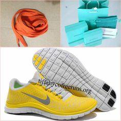free shipping c6c58 b3dff Mens Nike Free Run 3 Chrome Yellow Sail Reflect Silver Shoes