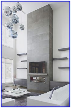 Top 60 Best Concrete Fireplace Designs Minimalistic Interior Ideas Home Concrete contemporary fireplace Designs Fireplace Ideas Interior Minimalistic Top House Design, Minimalist Interior, Home, Living Room With Fireplace, Small Fireplace, Fireplace Design, Contemporary Fireplace Designs, Contemporary Living Room Design, Modern Fireplace