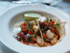 Fish Tacos Refuel Restaurant & Bar in Crosby Street Hotel NYC