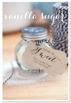 DIY Vanilla Sugar Favors with printable tags  photography by http://kimbrystudios.com/  					 http://www.stylemepretty.com/2012/09/14/diy-van...